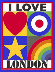 peter blake i love london at A&D Gallery